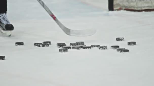 Hokejový trénink na ledě