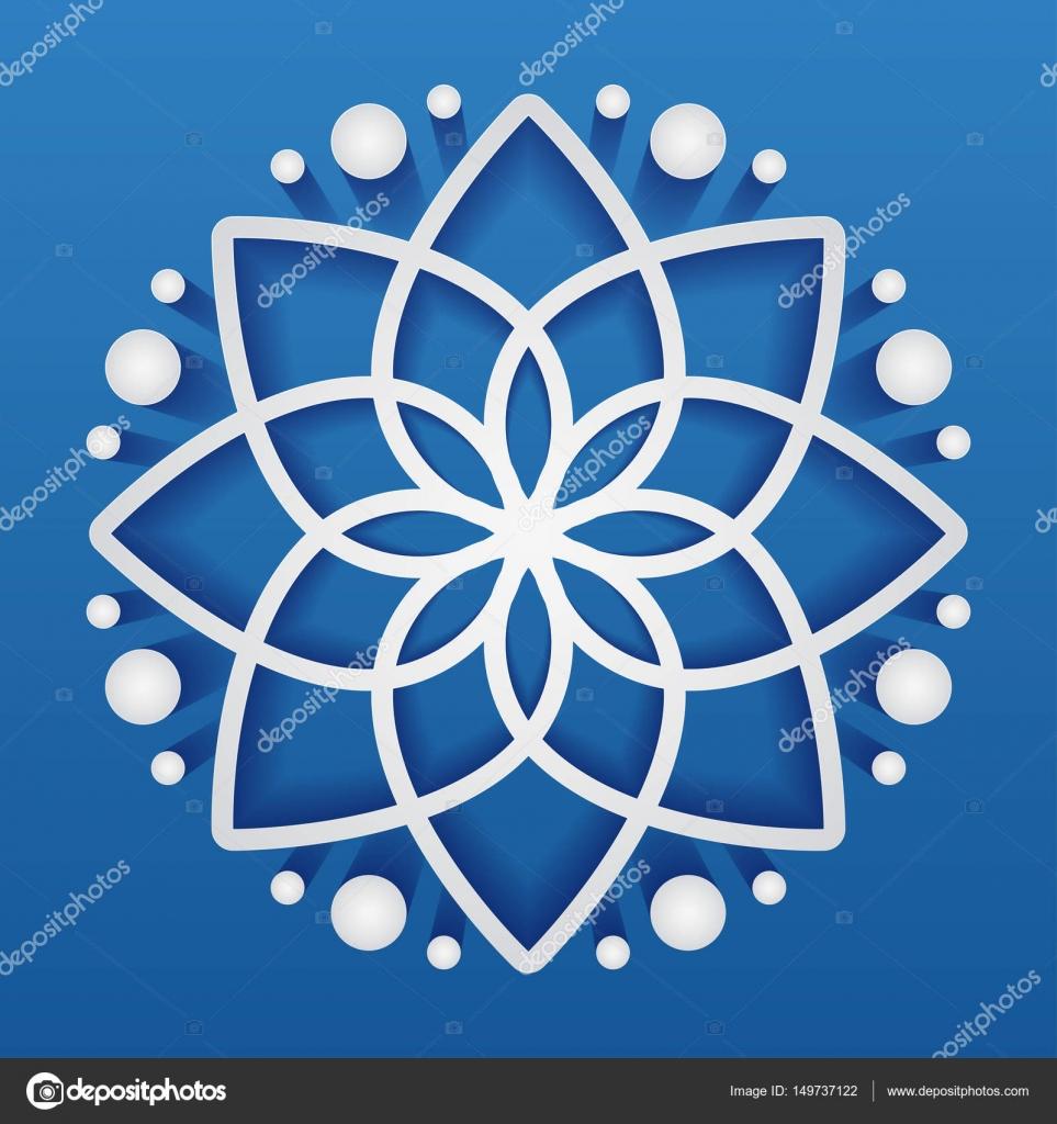 Einfache geometrische Mandala-Logo. Kreisförmige Logo für Boutique ...