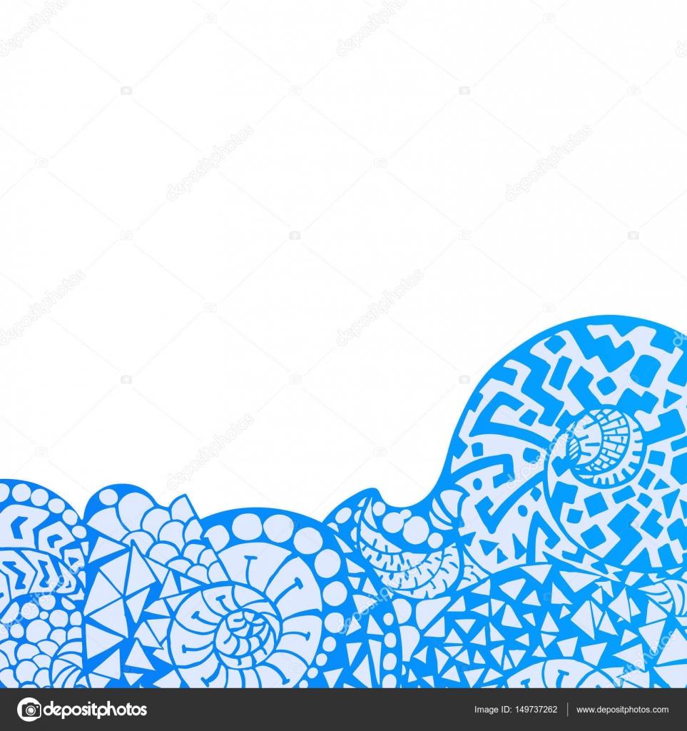 Decorative Element Border Abstract Invitation Card