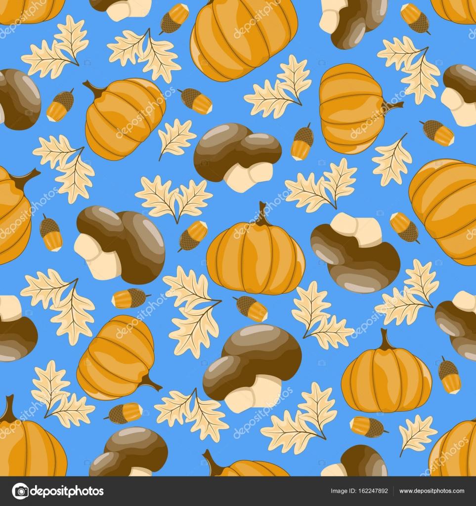 Autumn Seamless Pattern Scrapbook Design Elements