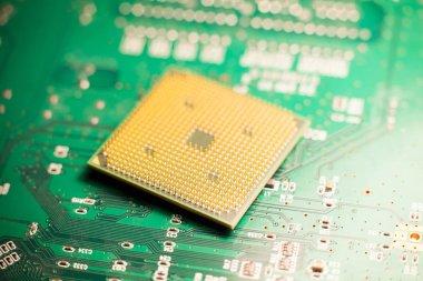 Microprocessor or cpu on a circuit board