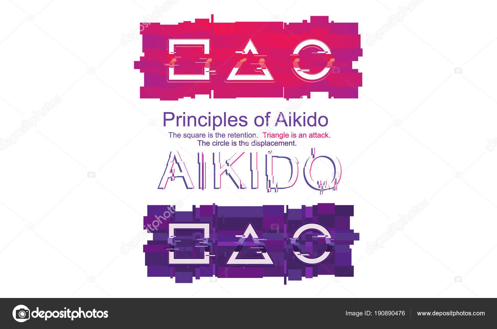 Seth Sport Und Kampfkunst Prinzipien Des Aikido Glitch Stil Zwei ...