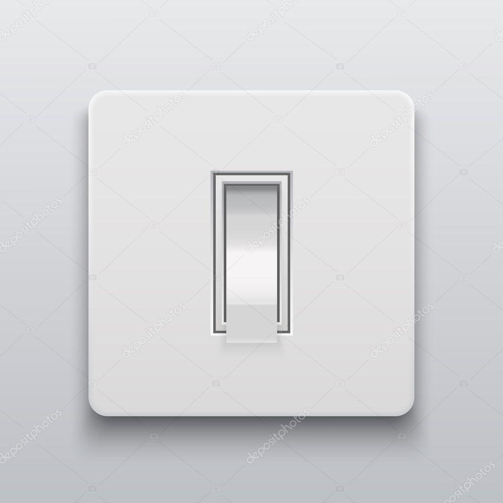 Vektor moderne Lichtschalter Symbol Hintergrund — Stockvektor ...