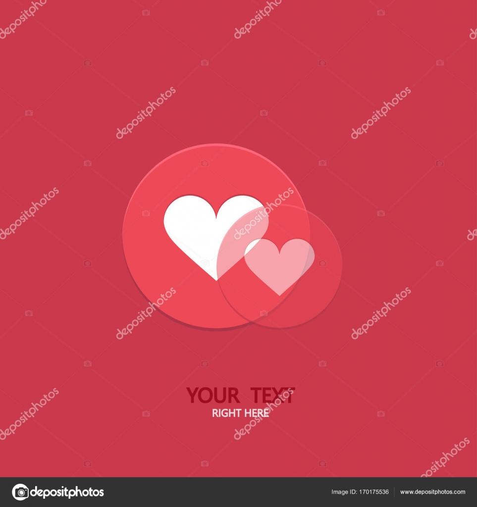 Vektor Moderne Kreis Wie Herz Symbole Hintergrund Social Media