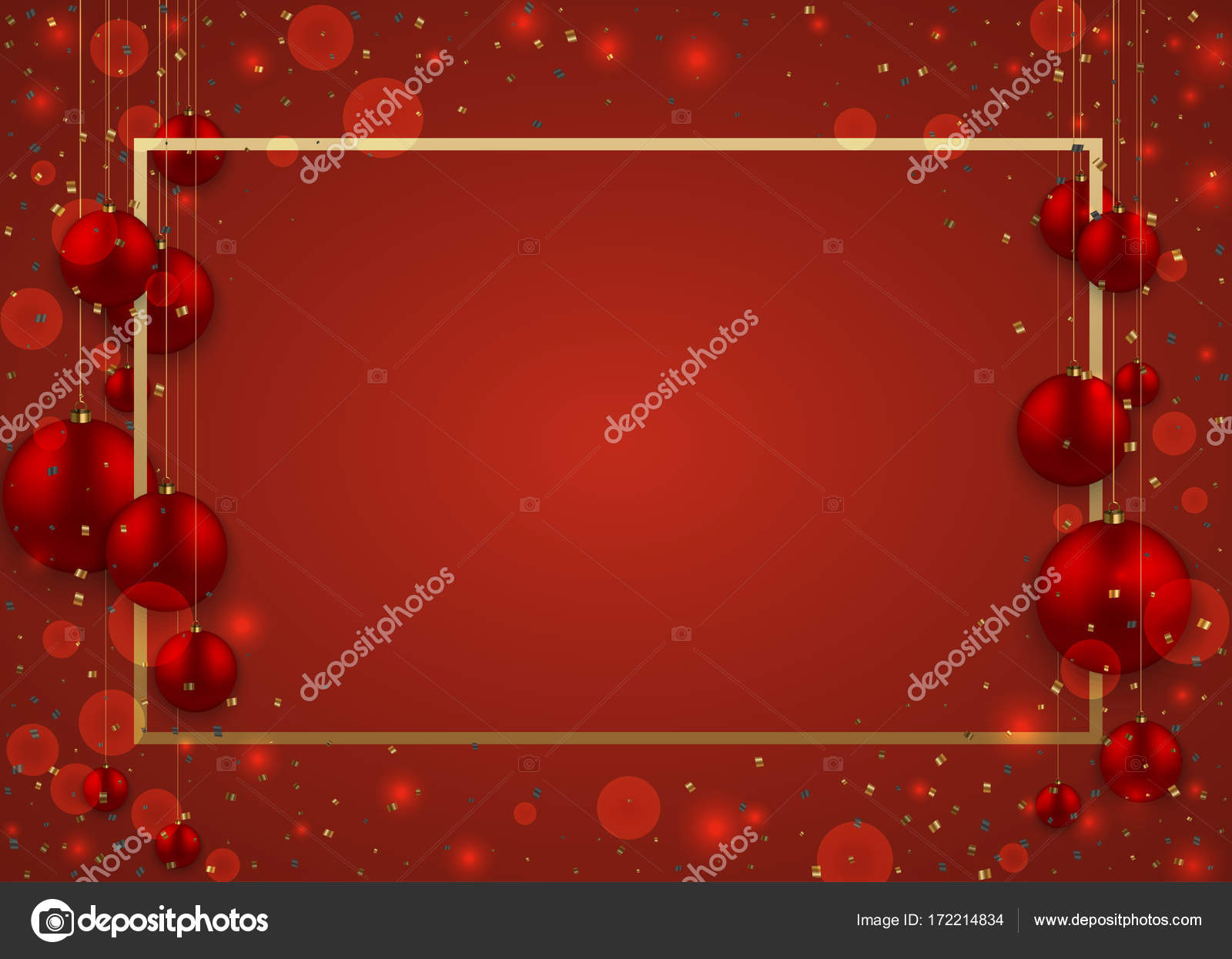 vector modern christmas or 2018 happy new year winter holiday invitation card background stock