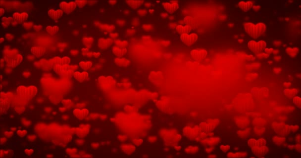 Hurok, mozgó piros szív ikonok