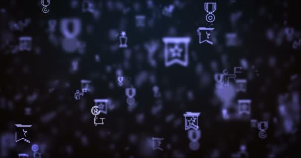 Schleife bewegte Preissymbole Hintergrund