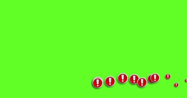 animáció modern absztrakt felkiáltójel-ikon mozgó háttér