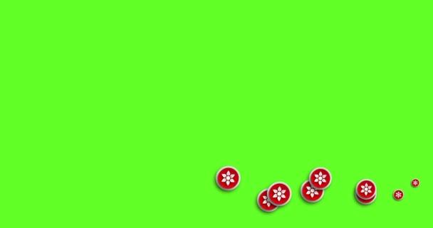 moderní abstraktní květ ikony animace pohybu pozadí