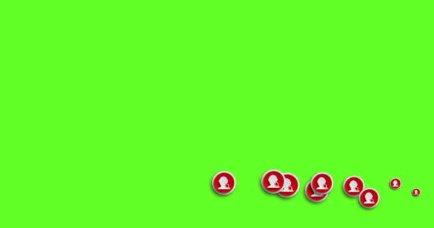 ikony přátel moderní abstraktní hledání animace pohybu pozadí