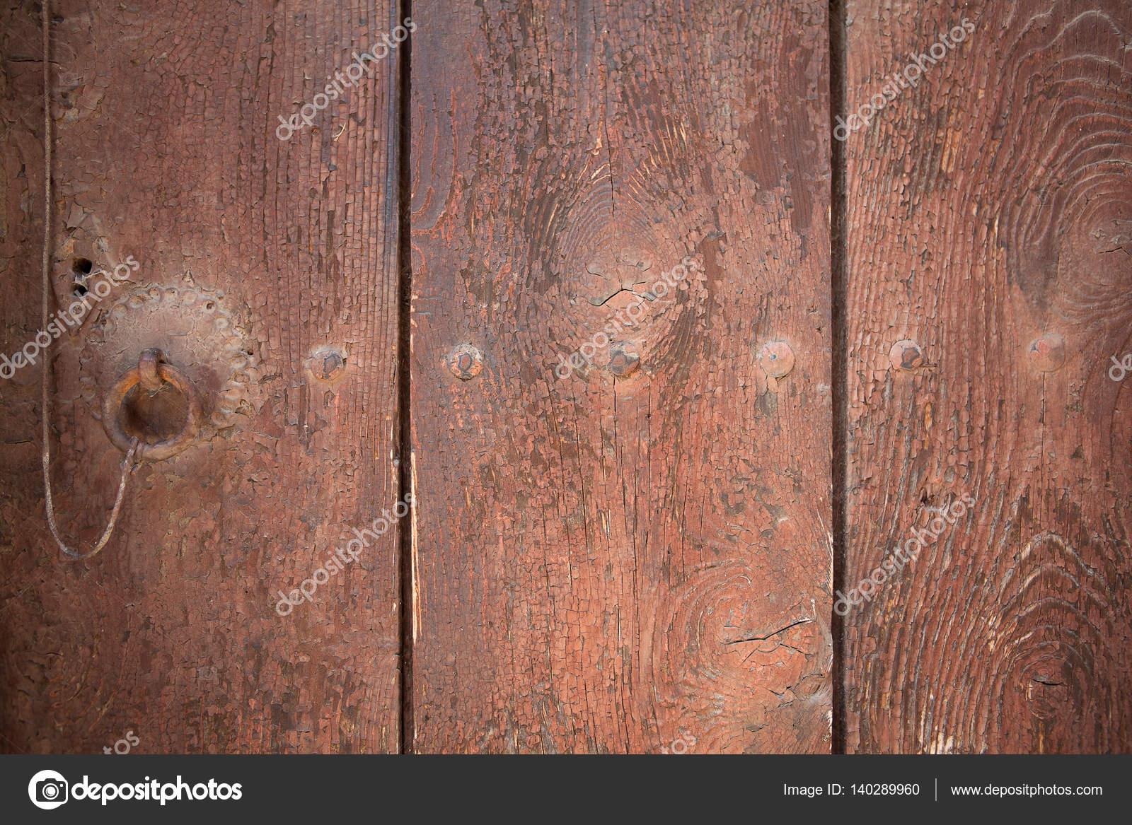 Tło W Wieku I Wyblakły Brązowy Drzwi Drewniane Z Starej