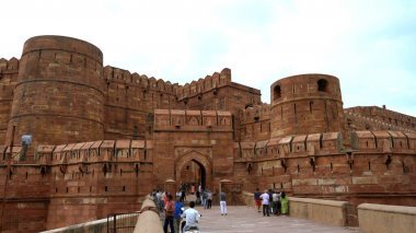 Main entrance to Arga Red Fort in Agra, India