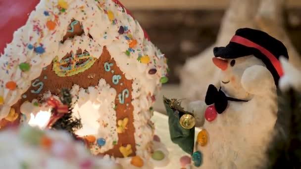 Vánoční dekorace v hotelu close up