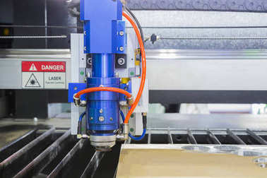 The Laser cutting machine