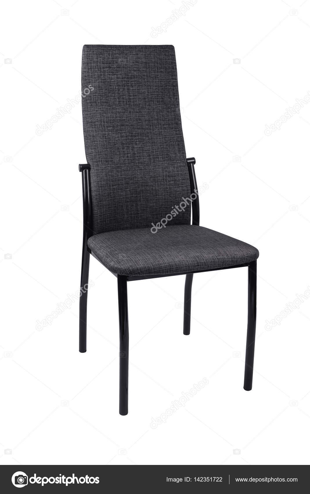 Chaise Gris Moderne Noir Isol Sur Fond Blanc