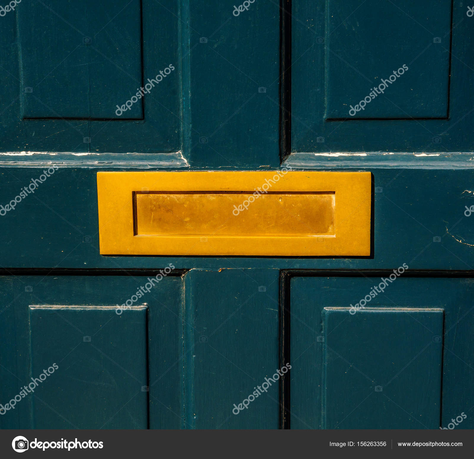 Old letterbox in the door traditional way of delivering letters \u2014 Stock Photo #156263356 & Old letterbox in the door traditional way of delivering letters ...