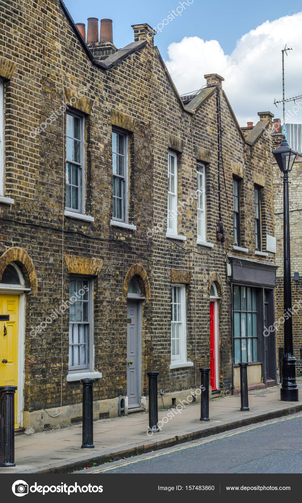 Typical Old English Buildings Low Brick Across A Narrow Street Interesting London Architecture Houses Photo By Q77photo