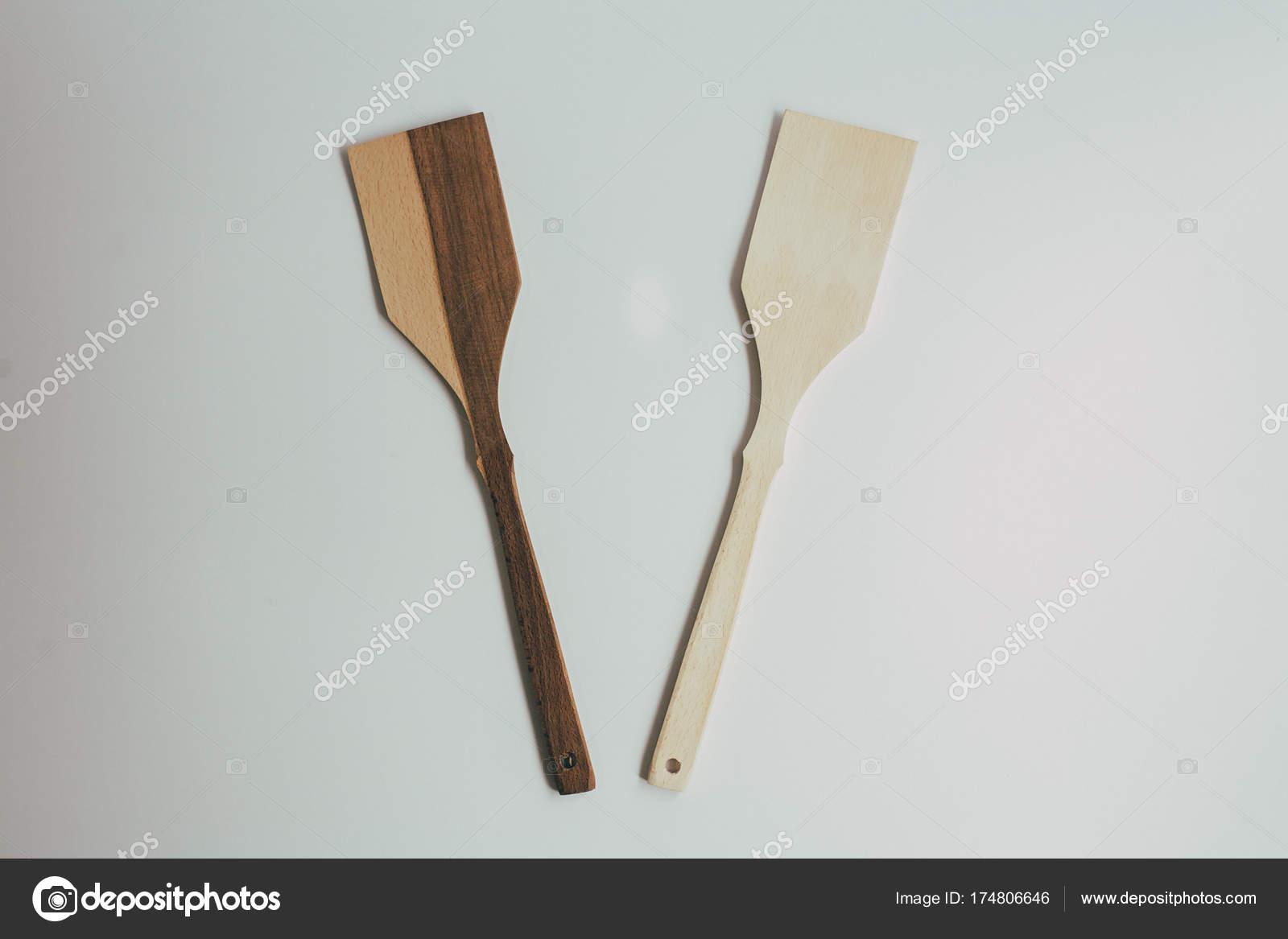 Rustieke keuken inrichting met houten bestek land keuken