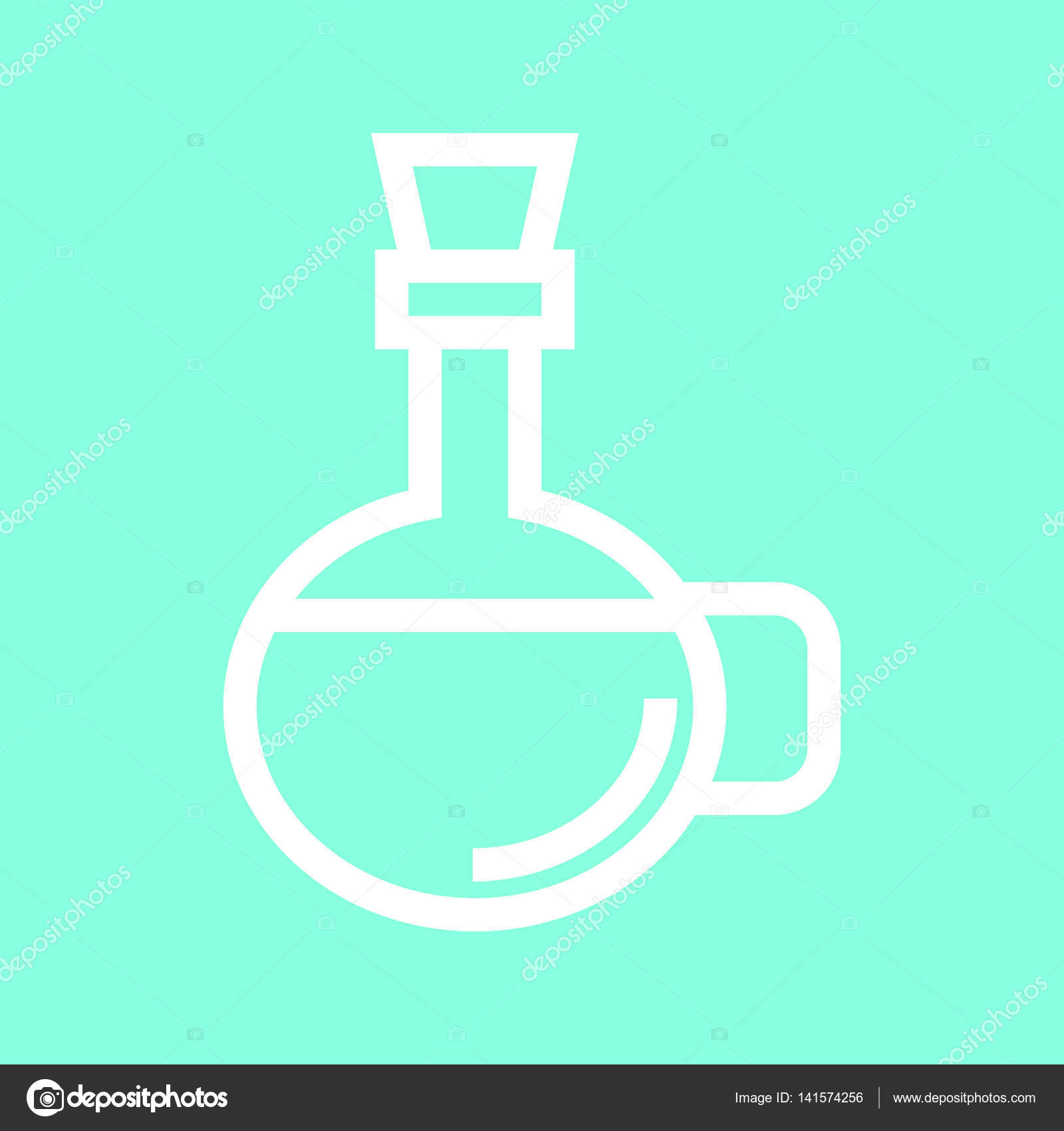 Olive oil icon in trendy flat style isolated on grey background ...