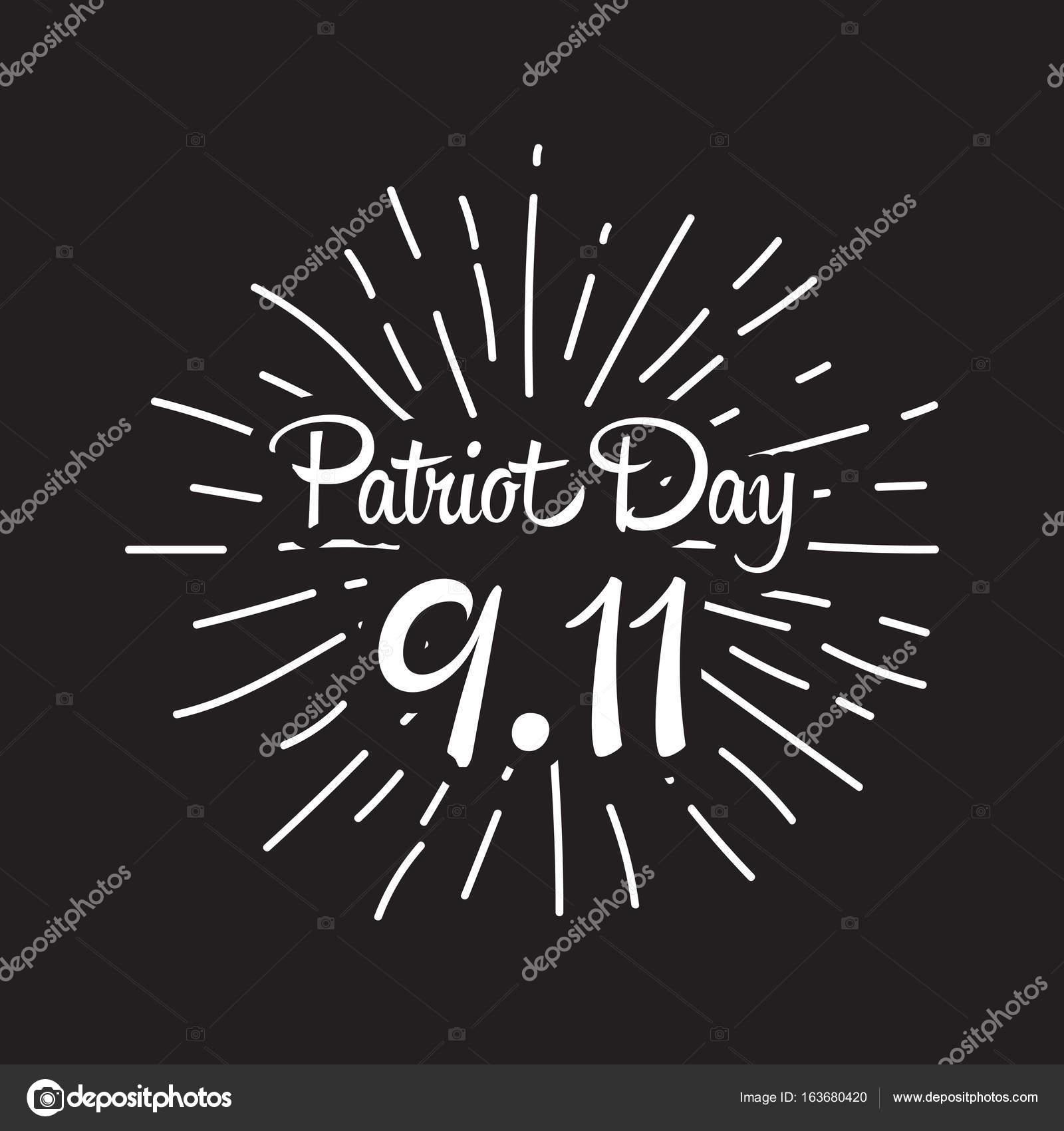 Patriot day, simple memorial design vector illustration 11 september ...