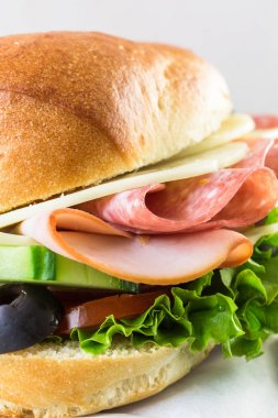 sandwich with fresh vegetables,