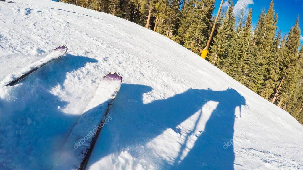 Alpine skiing view