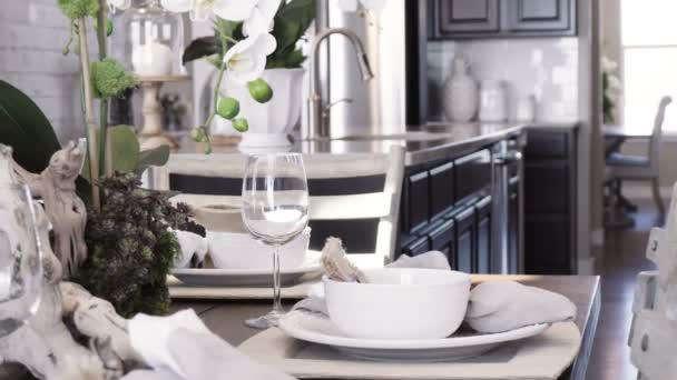 Tavolo pranzo moderno casa lusso u2014 video stock © urban light #195701714