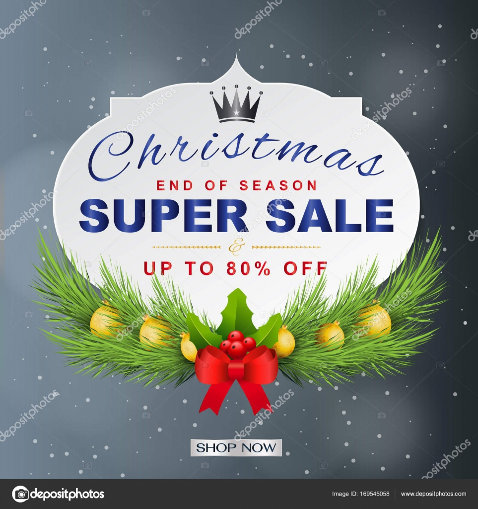 christmas sale and seasonal discount templates banners flyers