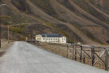 Svalbard, Norway, august 5, 2018: Huset, a restaurant building in Longyearbyen