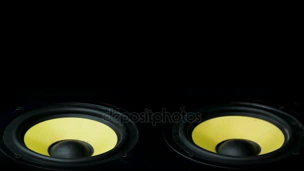 Professionelle Musik-Studio-Monitor verschieben. Close-up. Sehr ...