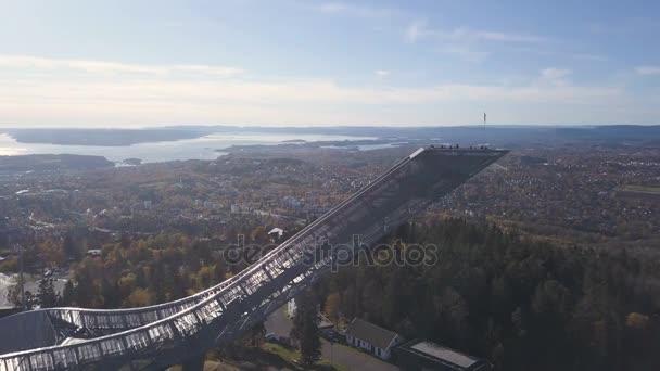 Holmenkollen new ski jump hill. Aerial