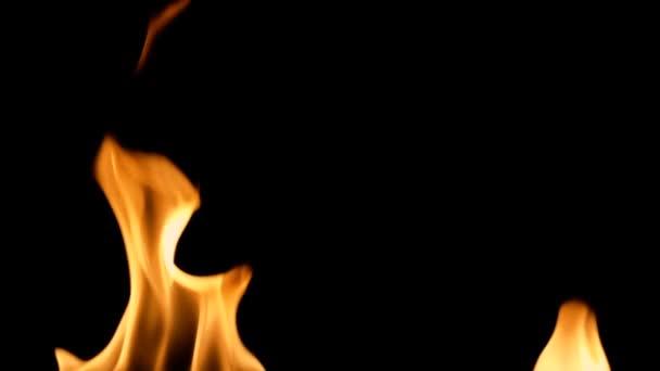 Podrobné požární pozadí, Zpomalený pohyb, bezešvé smyčka