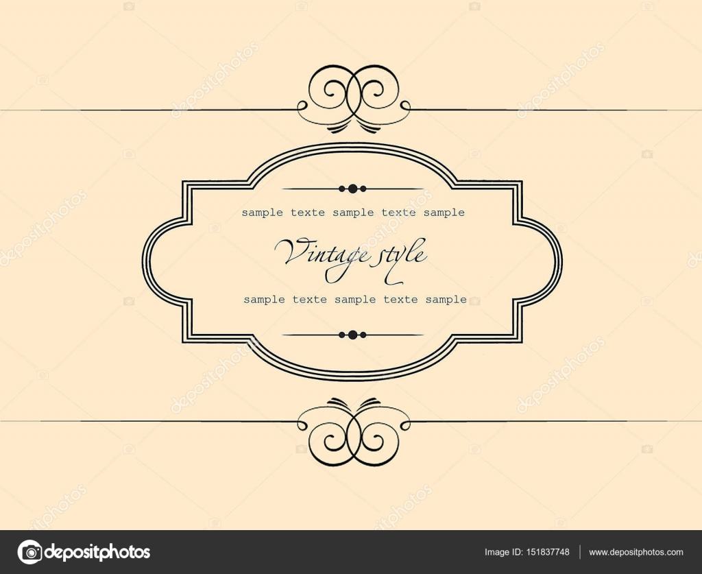 Plantilla de Vector de tarjeta de felicitación adorno vintage ...