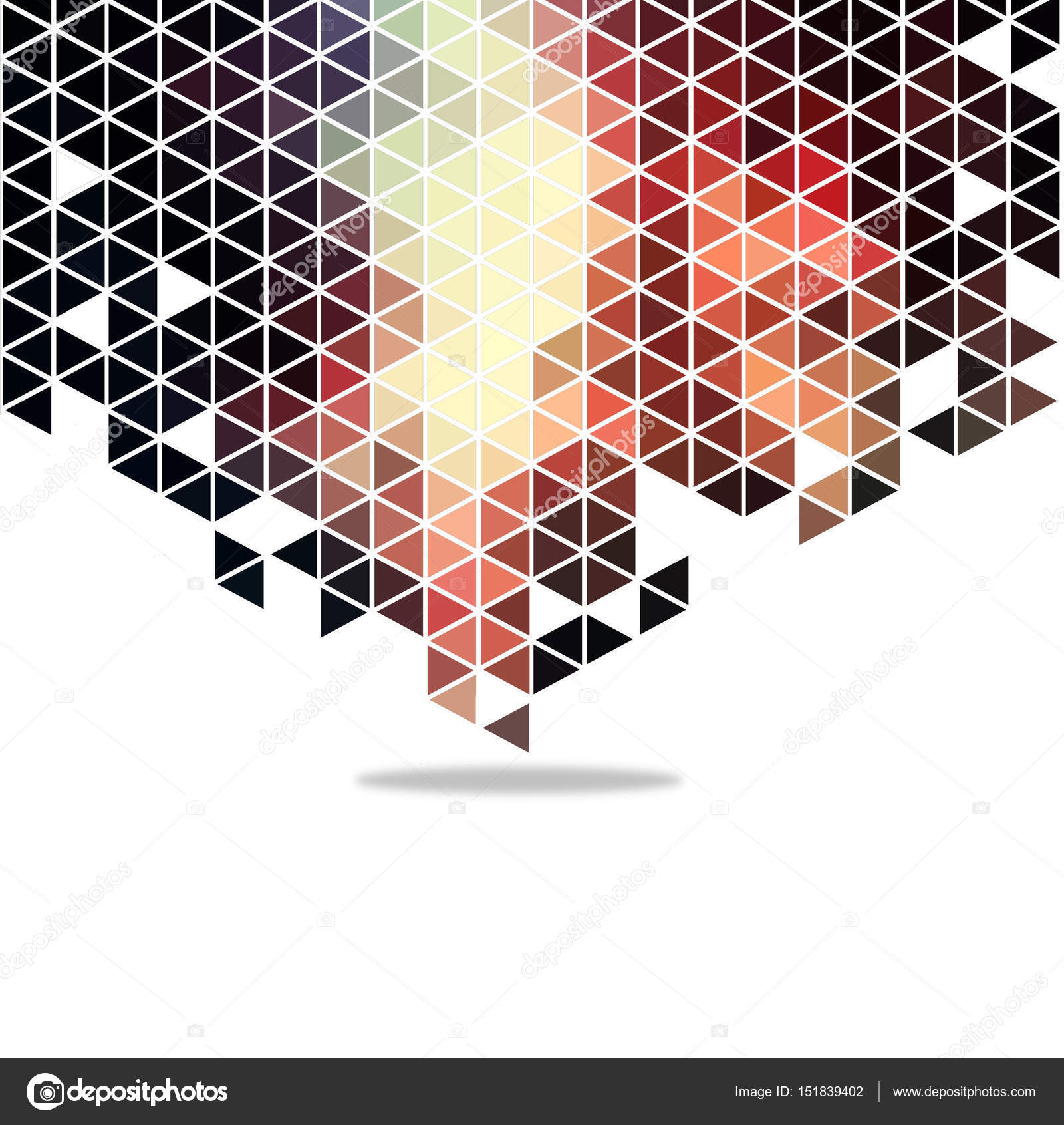 Dark Light And Cream Abstract 3d Triangle Background