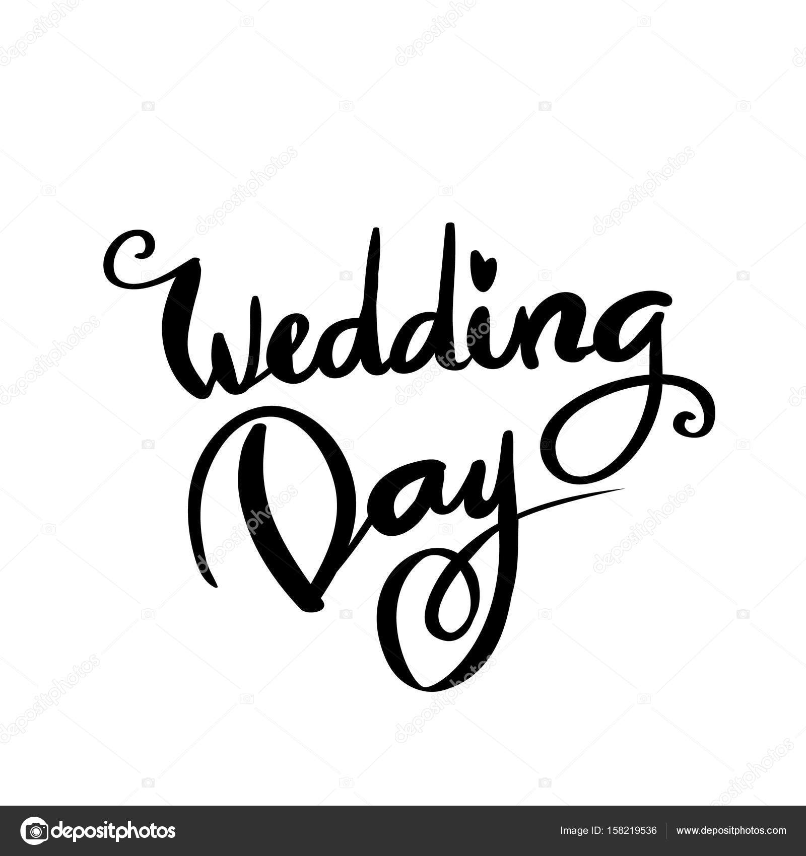 Wedding Day Calligraphy For Design Stock Vector C Ivanna Pliskova