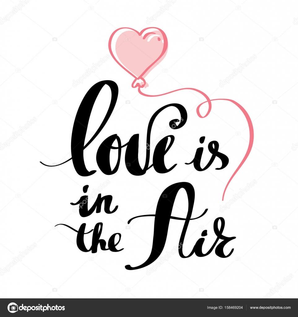 Amor é A Frase Do Ar Para O Dia Dos Namorados Vetor De Stock