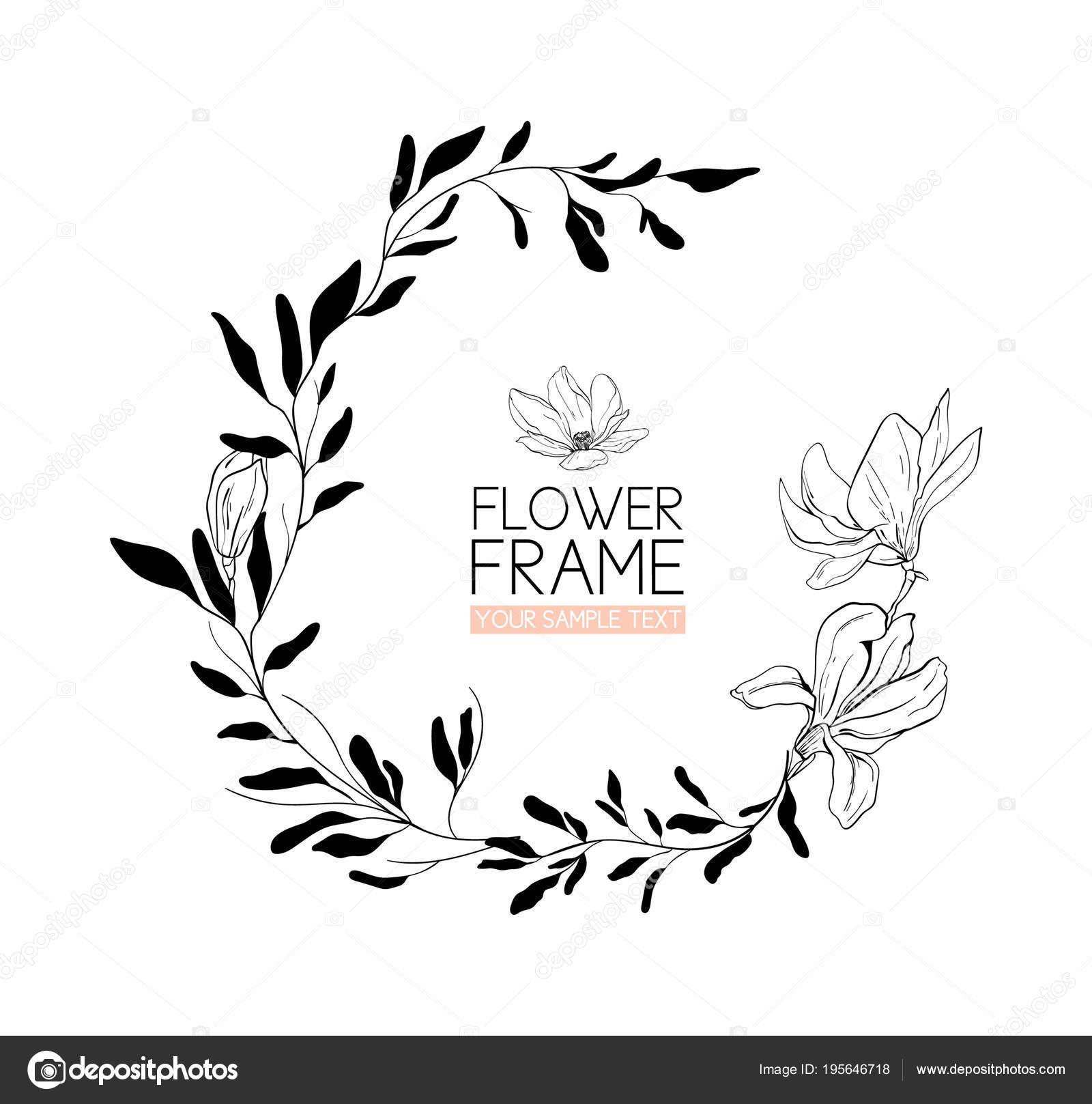 Dessin Couronne Fleurs Noir Et Blanc