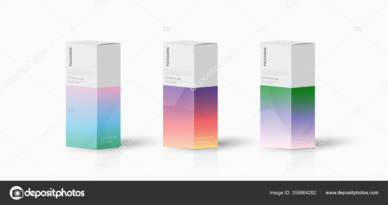 Kotak Templat Kemasan Untuk Gambar Desain Vektor Produk ...