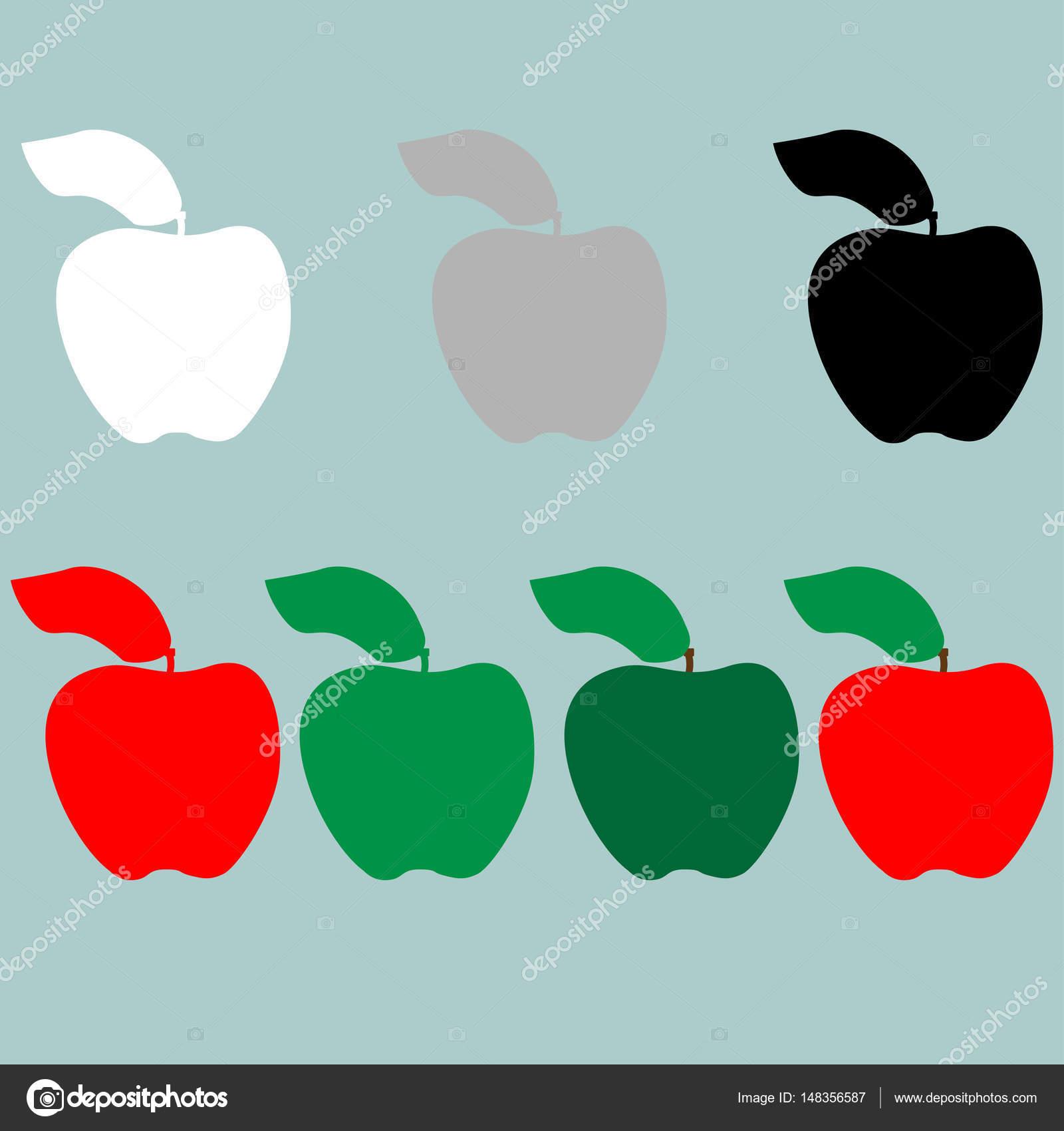 Cone verde vermelho preto cinza branco apple vetor de stock cone verde vermelho preto cinza branco apple vetor de stock altavistaventures Choice Image