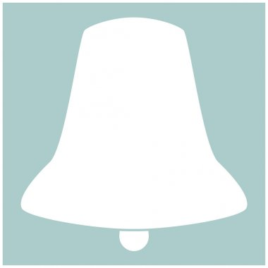 Bell the white color icon .
