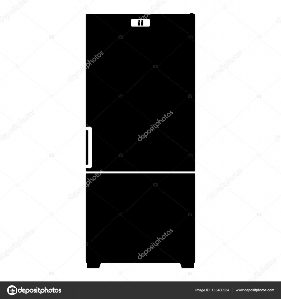 Kühlschrank Symbol das Symbol schwarz — Stockvektor © seregasss435 ...