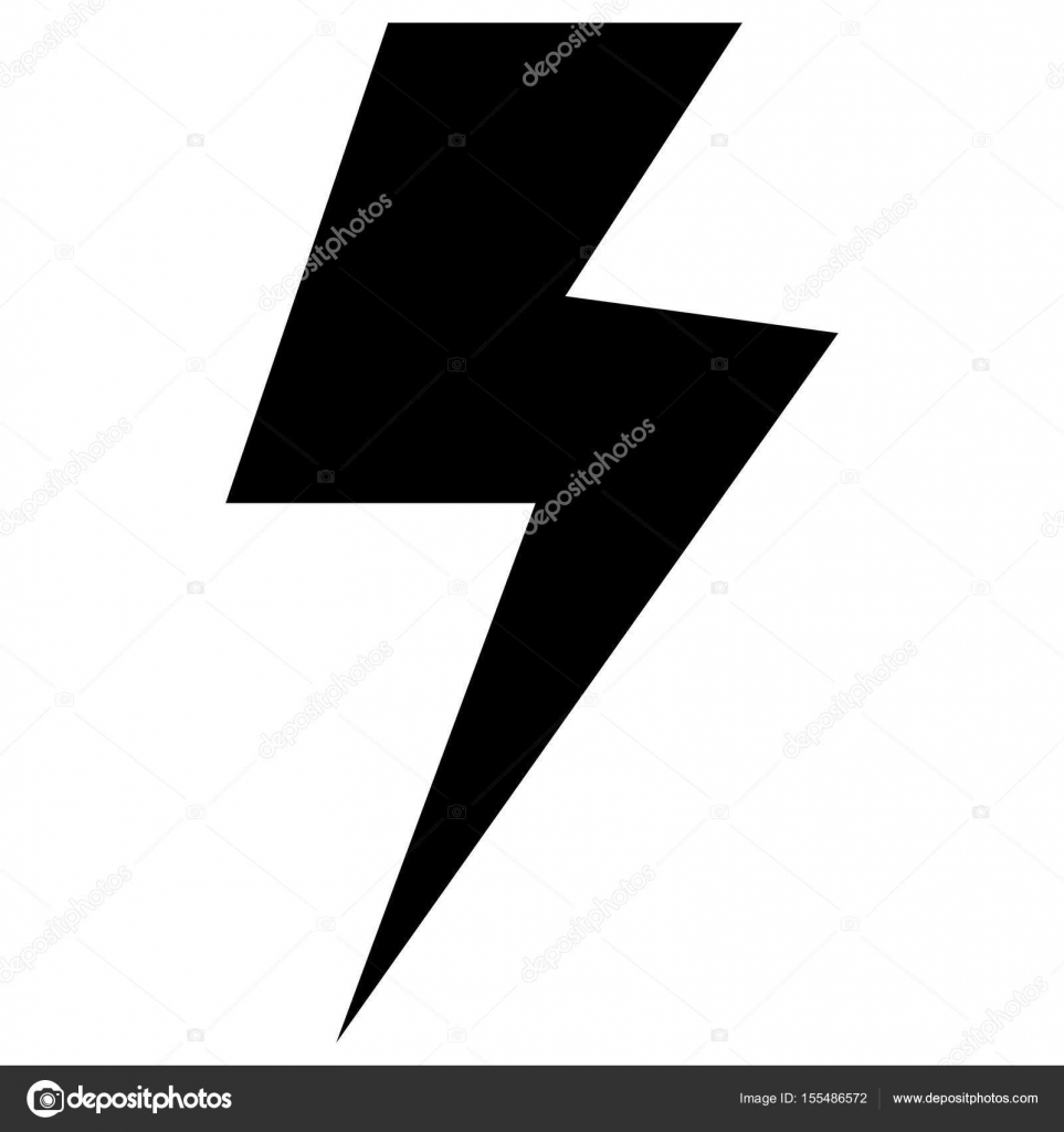 Symbol electricity the black color icon . — Stock Vector ...