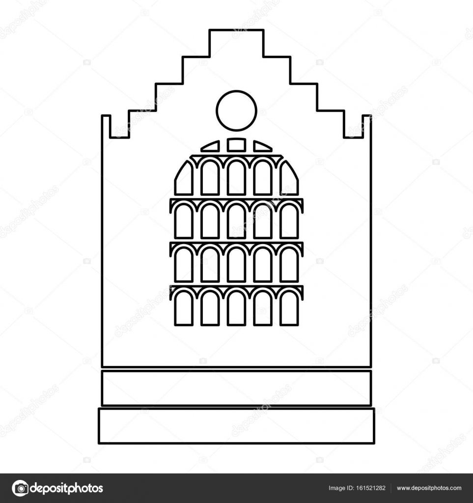 Icono de iglesia edificio color negro camino — Vector de stock ...