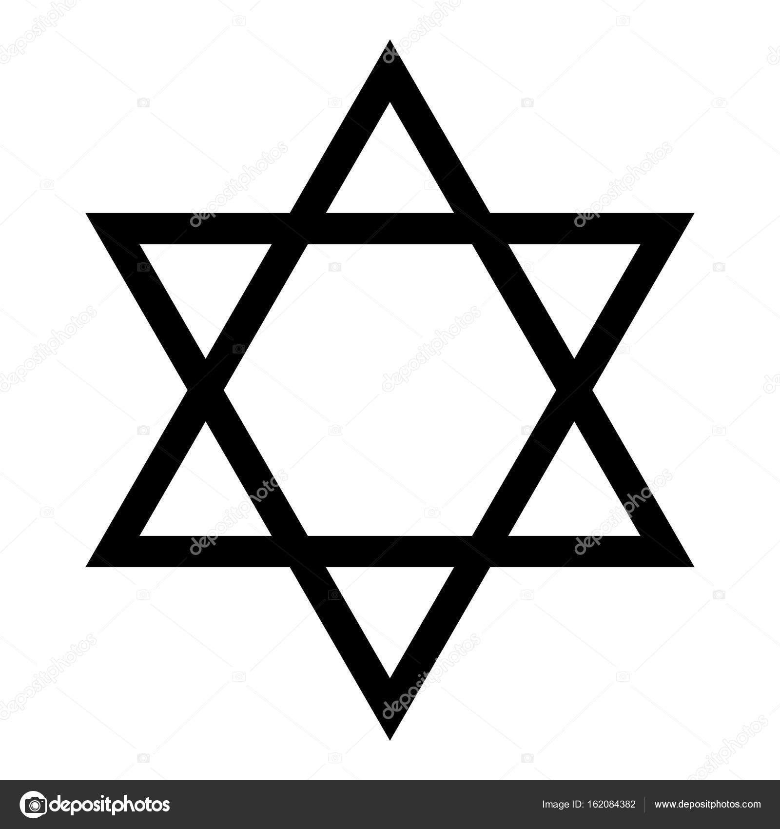 jewish star of david black color icon stock vector rh depositphotos com star of david vector free jewish star of david vector