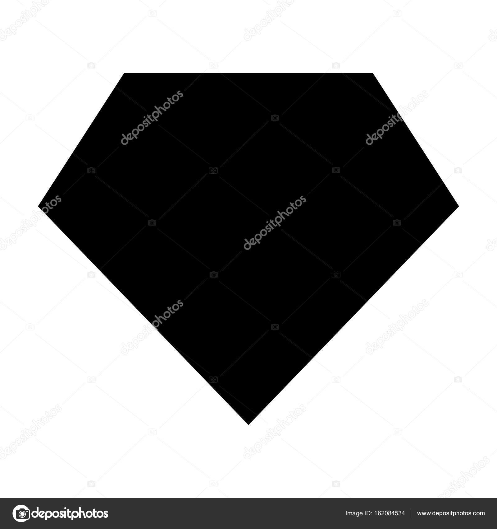 Superheld Vorlage schwarze Farbe Symbol — Stockvektor © seregasss435 ...