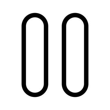 Pause black color icon .