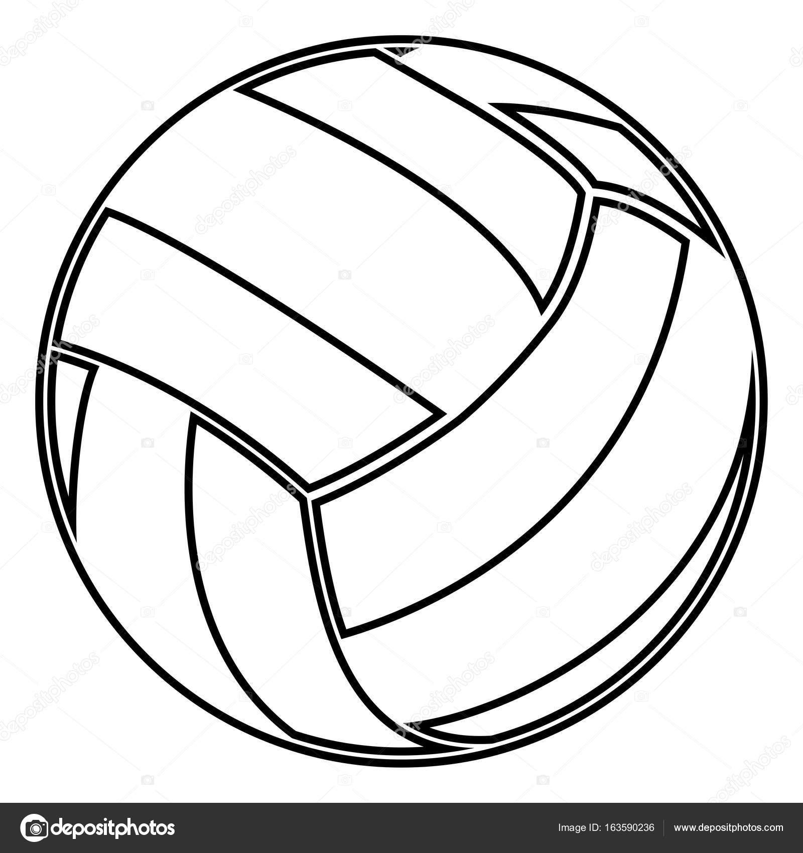 Dibujos de voleibol en blanco y negro