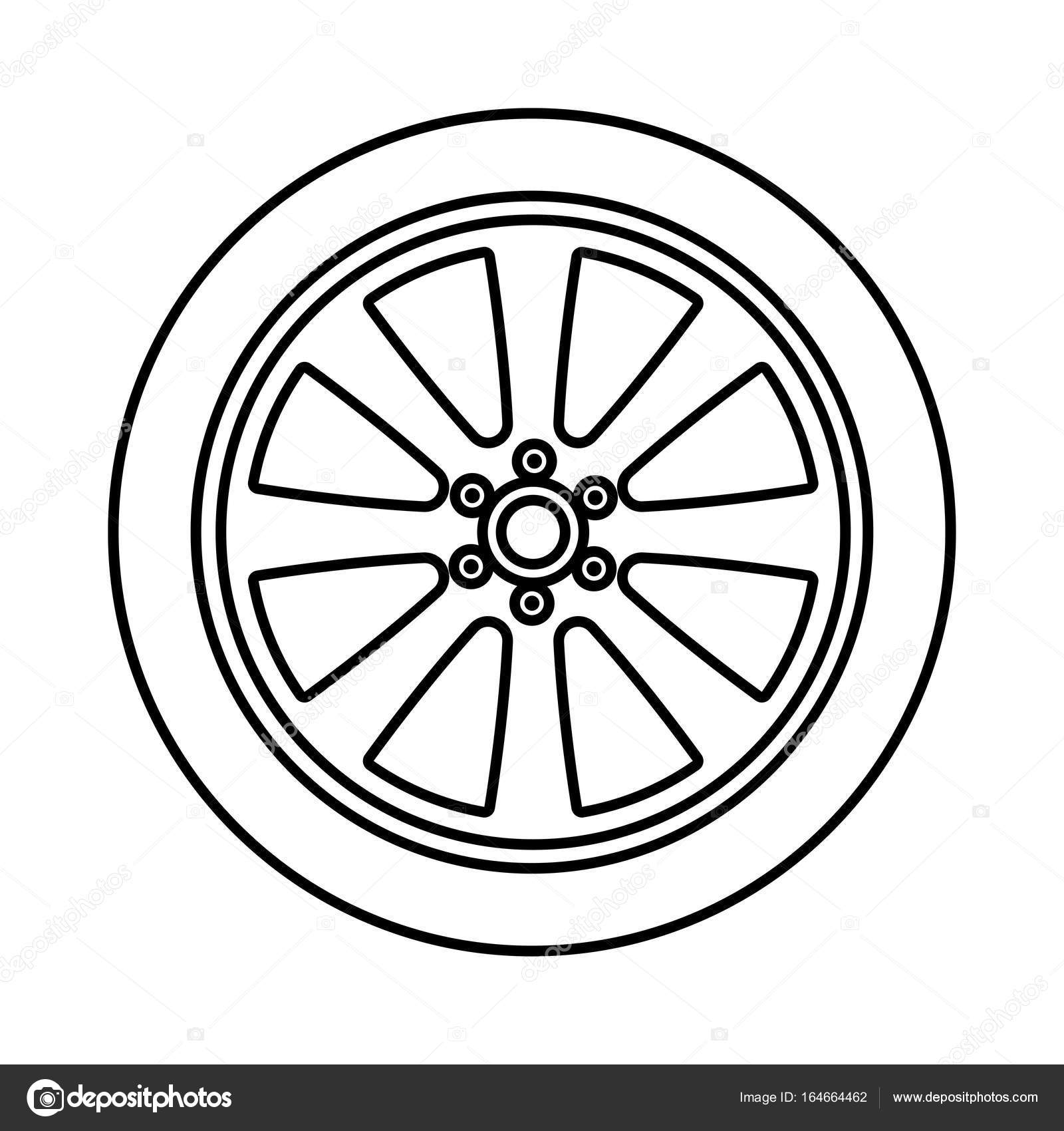 Car Wheel Black Color Icon Vector Image By C Seregasss435 Vector Stock 164664462