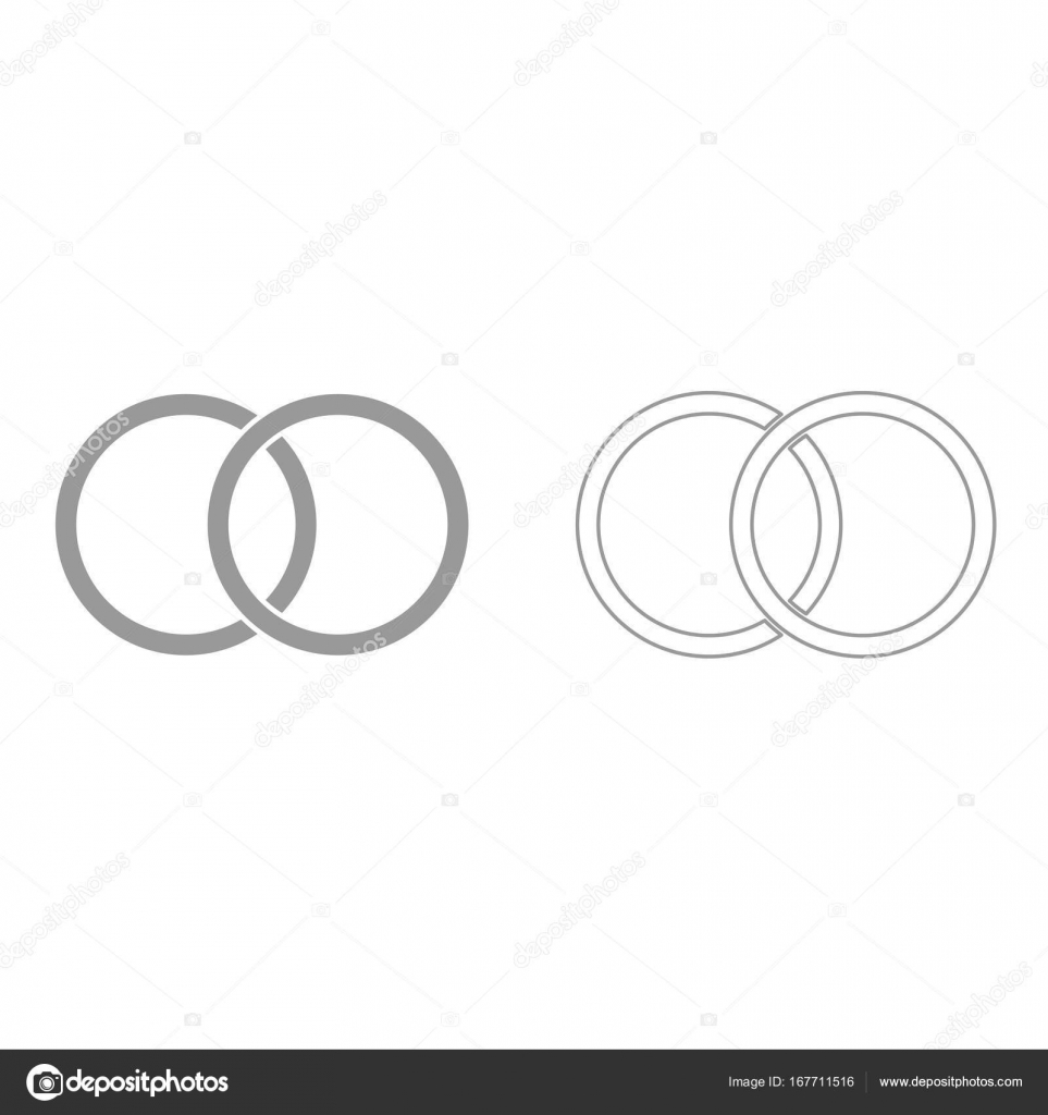 Hochzeit Ringe Ist Es Schwarze Symbol Stockvektor C Seregasss435