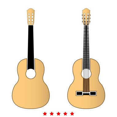 Guitar icon .  Flat style
